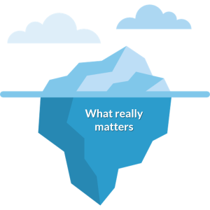 What really matters iceberg